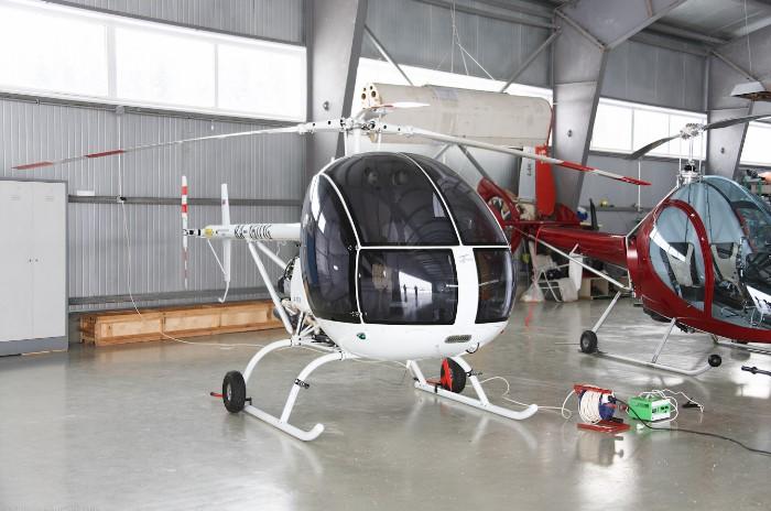 Базирование вертолета на территории вертодрома СКМ-Порт на западе Московской области